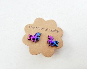 Unicorn earrings. Unicorn jewellery cosmic unicorn earrings. Magical unicorn mythical unicorn jewellery be a unicorn. Unicorns are real