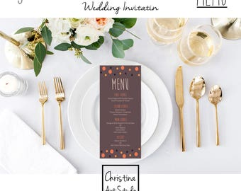 Wedding Menu, Wedding Invitation Kit, Wedding Invitations, Invitation Card, Templates, Invitation, Wedding, Printable Invitation, Menu