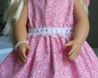 Two pieces, Doll Dress and bloomers- fits AG, Journey, Generation, Maplelea, Pretty in Pink