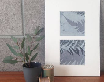 Original layered botanical MONOPRINT