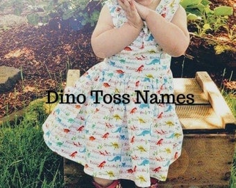 Toddler dinosaur dress,girly dinosaur dress,girly dinosaur party,first birthday dress,girly dino dress,jurassic party dress,dino dress