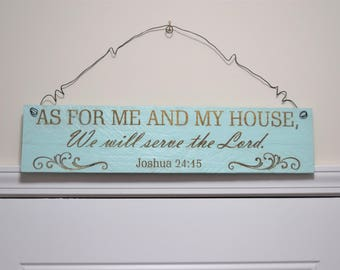 Engraved Pallet Wood Sign- We Will Serve the Lord | Religious | Joshua 24:15 | Psalms | Gift | Home Decor | Wall Hanging | Recycled | Rustic