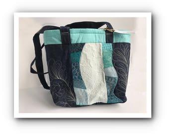 Blue waves shoulder bag