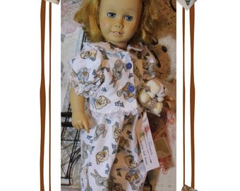 "Chatty Cathy doll not included. Heirloom Collection. Bears & Bunnies Pajamas. Clothes fit  dolls like the 20"" Tall Vintage Chatty Cathy"