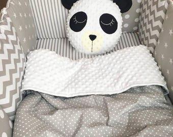 Bear cushion, Panda, Unicorn cushion, star cushion, softie, toy nursery decor, gift for girl, kids room cushion