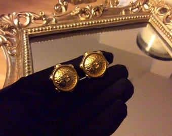 Vintage Fendi wheel clip on earrings (year 1993)
