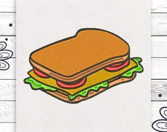 Sandwich embroidery Discount 10% Digital embroidery design 4 sizes INSTANT DOWNLOAD EE5032