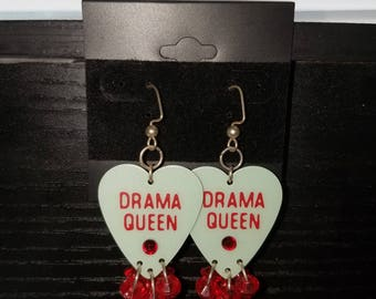 Drama queen guitar pick Earrings