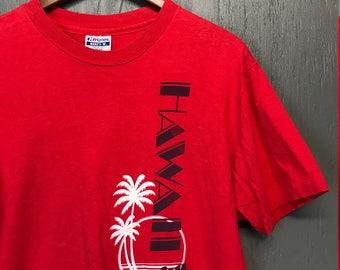 M/L vintage 80s Hawaii tourist t shirt* medium large