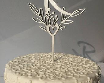 Monogram cake topper letters for wedding Initial cake topper Personalized cake toppers Glitter name  Gold letter cake topper