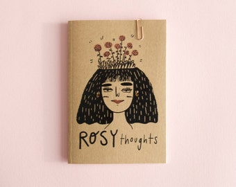 Rosy Thoughts A6 Notebook