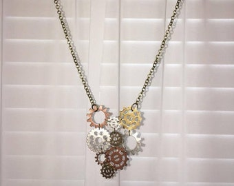 Gears Long necklace