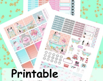 Relax, Printable Stickers, Weekly Kit, Weekly Planner Stickers, Printable Weekly Kit,
