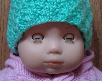MADE TO ORDER -Hand Knit Baby Hat, Choose Your Color!