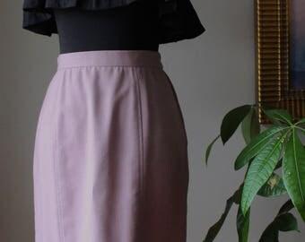 Womens Vintage Mauve Pencil Skirt