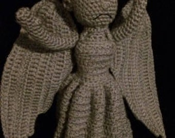 Made to Order Doctor Who Weeping Angel Amigurumi w/Free gift