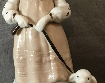Music Box Figurine- Mary had a Little Lamb