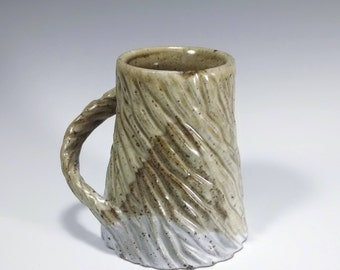 Speckled Ceramic Mug / Carved Mug / Textured Mug / Unique Mug / Small Mug / Handmade Pottery Mug