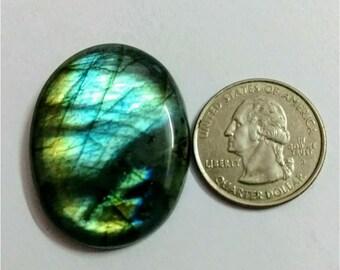 38.40 x 30.50 mm,Ovel Shape Labradorite Cobochon/Sky Blue Flash/wire wrap stone/Super Shiny/Pendant Cabochon/Semi Precious Gemstone/Cabs