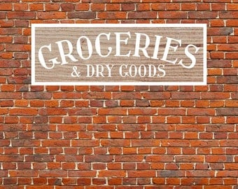 Groceries Sign Decor, Grocery Sign, Groceries Sign, Vector, SVG, Cut File, Print, Sticker, Fixer Upper Sign, Magnolia, Silhouette Cameo