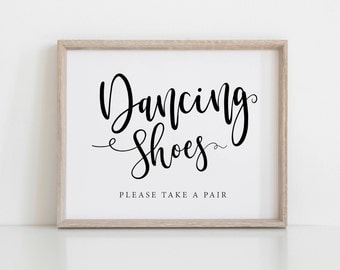 Dancing Shoes Printable Wedding Sign, Wedding Signs, Little Treat For Your Dancing Feet, Flip Flops Sign, Dancing Feet Sign, 8x10, 5x7, 4x6