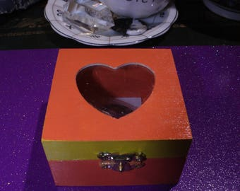 Heart Shaped Amethyst Small Trinket Box Gift Set