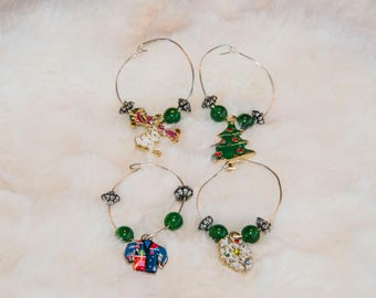 Christmas Fun Wine Charms
