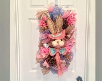 Easter Wreaths - Bunny Wreath - Easter Swag - Spring Wreath - Rustic - Easter Wreath