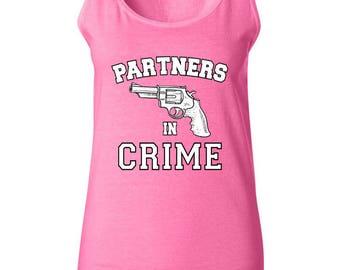 Matching Partners In Crime Friends Women Tank Top Sleeveless Tops Best Seller Designed Women Tanks