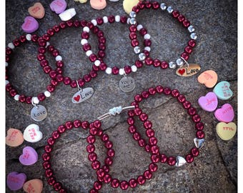 Show Your LOVE with These Valentine Beaded Bracelets