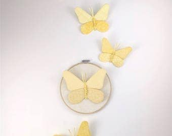 Butterfly Cluster Wall Hanging - Yellow