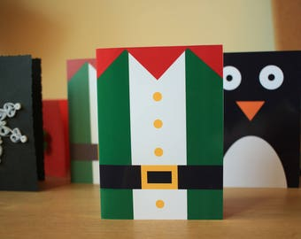 Set of 8 Unique Printable Christmas Cards - Christmas Characters