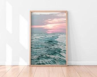 Ocean Printable, Ocean Waves Print, Ocean Art Print, Coastal Wall Decor, Beach Art, Printable Poster, Digital Print, Digital Download, Water
