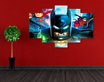 Batman print, DC Comics, Superhero print, Batman canvas, Superhero canvas, Lego Batman print, Lego Batman, DC Comics print, Batman wall art