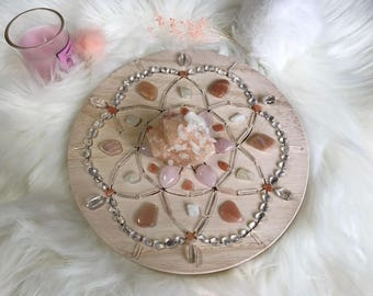 20cm Good Fortune and Blessings Complete Set of Crystal Grid