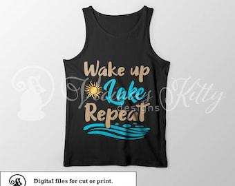 lake saying svg, lake life svg, lake stencil svg, summer svg, ai dxf emf eps pdf png psd svg svgz tif files for cricut, silhouette, brother
