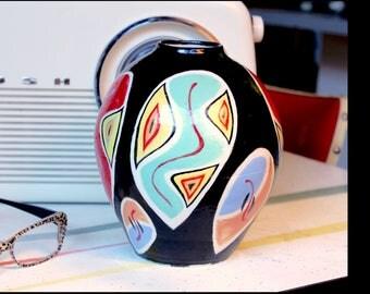 Funky retro-inspired ceramic vase
