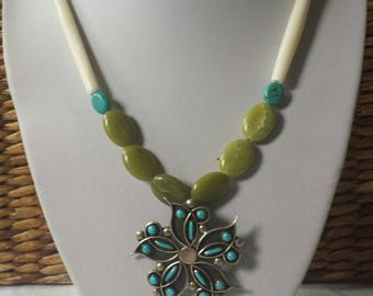 Native American signed pendant necklace