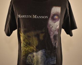 Vintage 90's Marilyn Manson Antichrist Superstar  T-Shirt L
