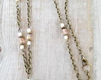 Long Boho Necklace - Long Boho Pendant Necklace - Long Chain Necklace - Boho Statement Necklace - Layering Necklace - Unique Boho Jewelry