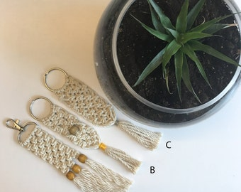 Macrame Keychains - made with natural cotton