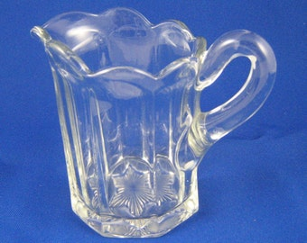 Creamer, Clear Glass EAPG Galloway Pattern by US Glass