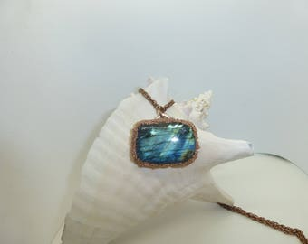 Large Blue Laboradite Pendant