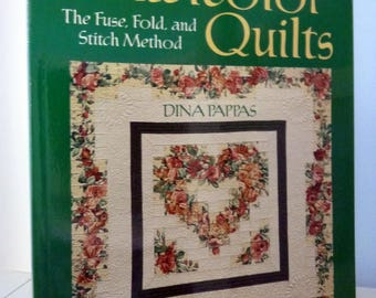 Quilt Book Quick Watercolor Quilts Dina Pappas Soft Cover 9 Patterns