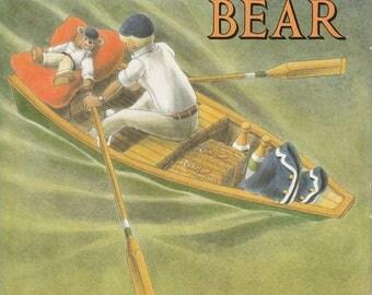 Gentleman Bear by William Pene Du Bois, vintage British teddy bear book, British RAF, teddy bear biography, english teddy bear, anglophile