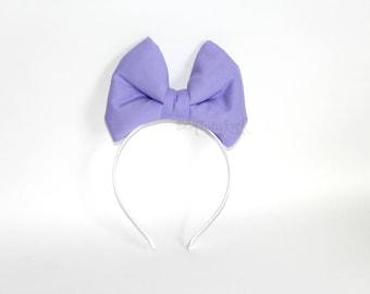 Daisy Bow // Daisy Duck Bow // Big Lavender Bow // Big Bow Headband // by Born TuTu Rock