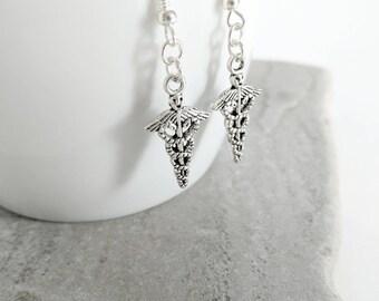 Medical Earrings, Nurse Earrings, Doctor Earrings, Gift for Nurse, Gift for Doctor, Nurse Gift, Doctor Gift, Caduceus Earrings