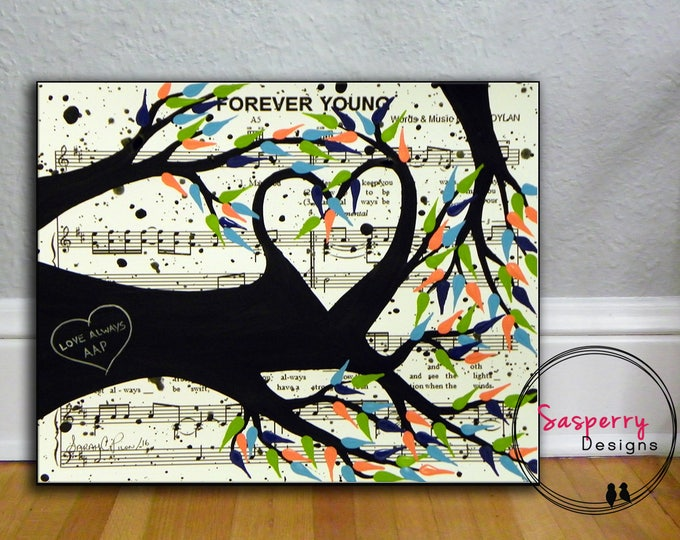 Custom Father of the Bride Gift, Father Daughter Dance Lyric Art, Wedding Sheet Music Painting Canvas, Daddy Daughter Gift Love Tree