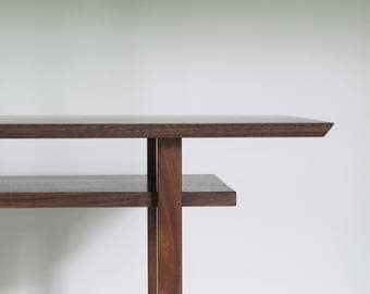 Solid Walnut Wood Console Table: Classic Design For Entryway Table, Hall  Table, Side