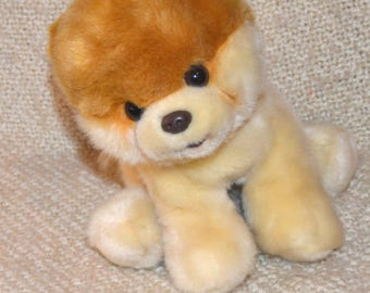 "BOO "" The World's Cutest DOG.""  by: GUND..Tan and Brown..Soft and Cuddly..10"" Head to Tail. Wonderful Christmas Gift."